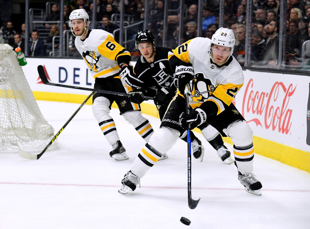 Defenseman Matt Hunwick was acquired by the Sabres from Pittsburgh in June.  (Getty Images)