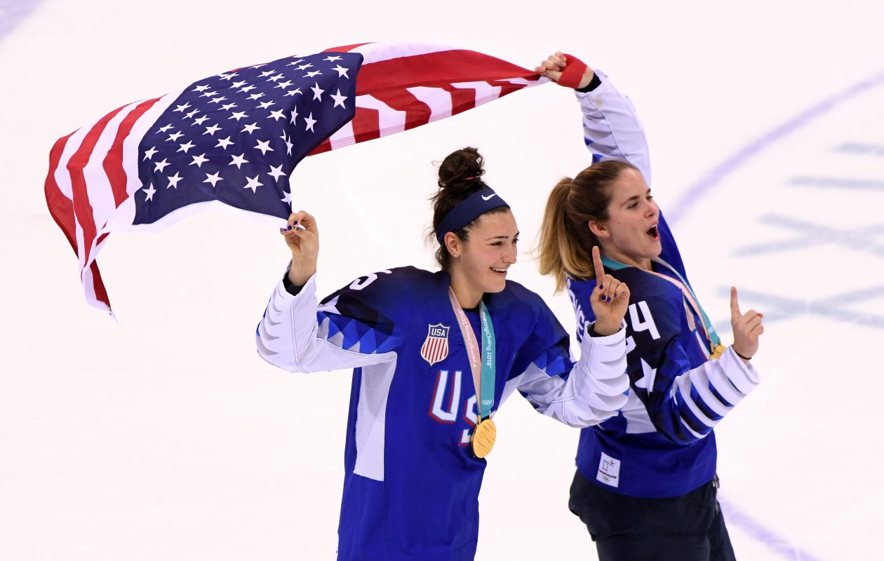 Olympic gold medalists Megan Keller (left) and Dani Cameranesi will reunite with the Beauts.  (Harry How/Getty Images)