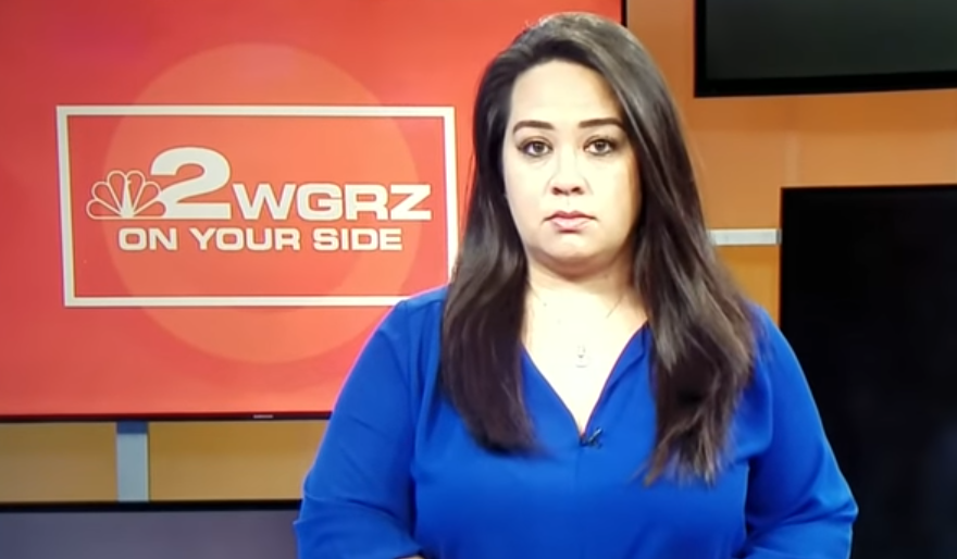 WGRZ anchor Heather Ly reacts to hearing a word said on the air that should not have been said on the air.