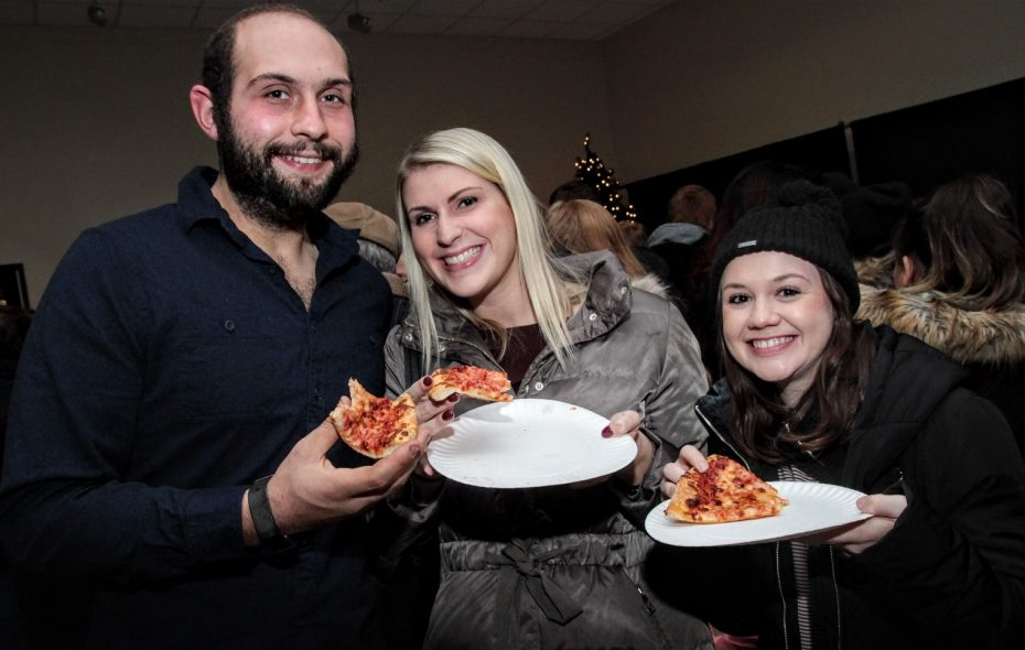 Smiling faces at the Festival of Slice in the Niagara Falls Culinary Institute. (Sarah K. McIlhatten/Special to The News)