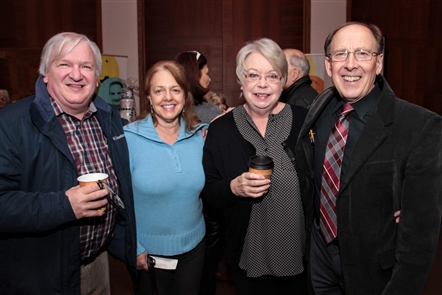 The coffee concert for JoAnn Falletta's Classical Christmas was a popular gathering on Friday, Dec. 7, 2018, as many supporters of the Buffalo Philharmonic Orchestra enjoyed coffee and doughnuts before the show. Very festive.