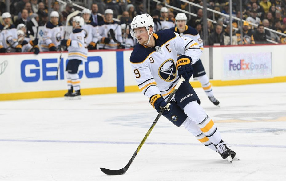 Jack Eichel and the Buffalo Sabres look to end a three-game losing streak Tuesday night when they face the Toronto Maple Leafs in KeyBank Center. (Getty Images).