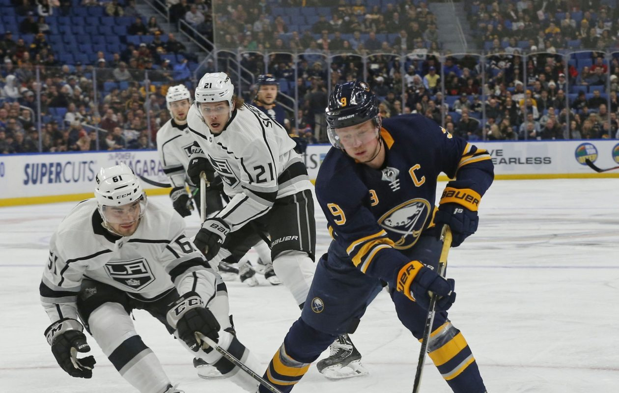 Sabres captain Jack Eichel has five goals in his last three games, doubling his season total to 10. (Robert Kirkham/Buffalo News)