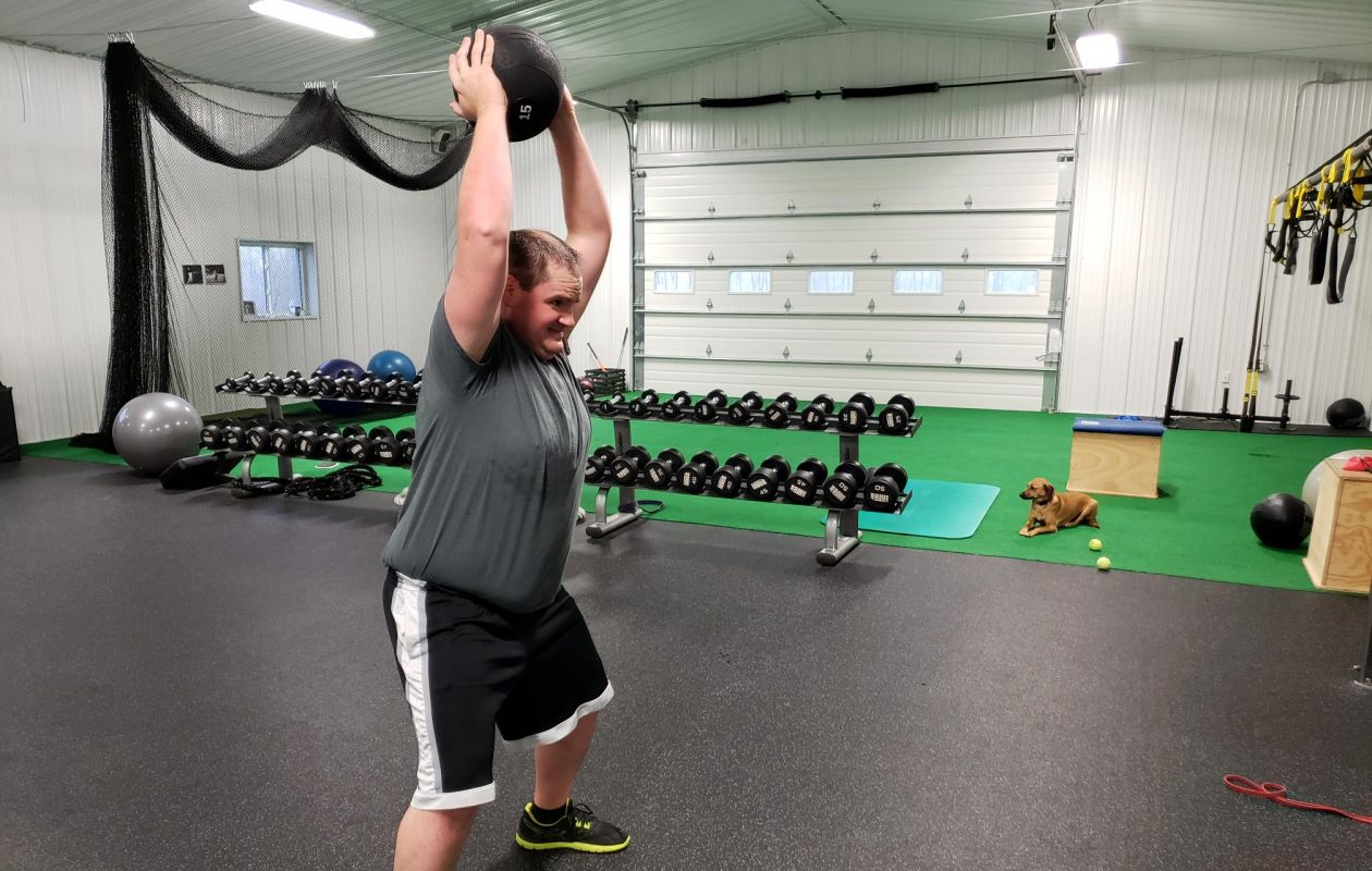 Jared Holsopple, of Elma, says he has learned valuable lessons each time he's lost weight. He hopes a new regimen that includes workouts that boost his golf game will give him the incentive to make the weight loss stick for good this time. (Photos courtesy of Advantage Fitness)