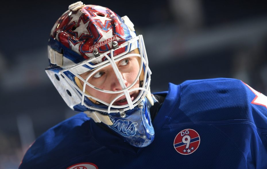 Jonas Johansson was a third-round pick by the Sabres in 2014. (Photo courtesy of Micheline Veluvolu of the Rochester Americans)