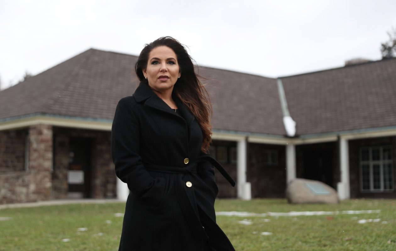 Julie Marinaro was arrested four years ago by Deputy Kenneth Achtyl at Chestnut Ridge Park after she and her kids had finished sledding. 'He created a crisis when there was none,' she said. Achtyl is the deputy involved in the controversial arrest of a Buffalo Bills fan at New Era Field one year ago.   (Sharon Cantillon/Buffalo News)
