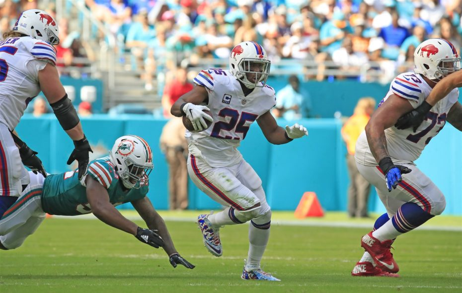 Bills running back LeSean McCoy was released Saturday after four years with the team. (Harry Scull Jr./Buffalo News)
