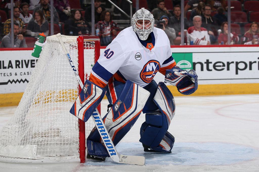 Former Sabres goaltender Robin Lehner made 39 saves Monday night (Getty Images file photo)