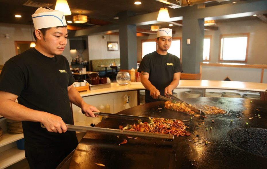 Mo Mo's Mongolian Grill & Sushi differed from Shogun, the previous concept at 7590 Transit Road, in the style of its live food preparation: Mongolian barbecue instead of hibachi. (Sharon Cantillon/News file photo)