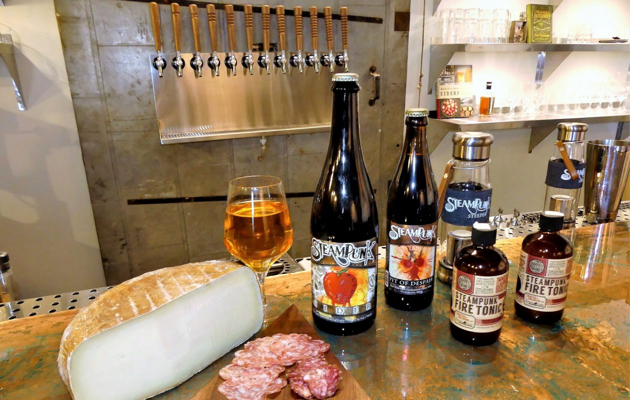 Steampunk Cider is the brand behind Bar Cultivar, which opens in the Barrel Factory on Dec. 8. (via the Barrel Factory)