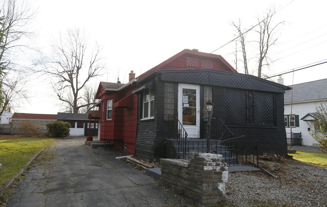Neighbors have complained about this 'zombie home' at 72 Paige Ave in the Town of Tonawanda. Town officials have reached a settlement with the lenders after suing them this spring. (Mark Mulville/Buffalo News)
