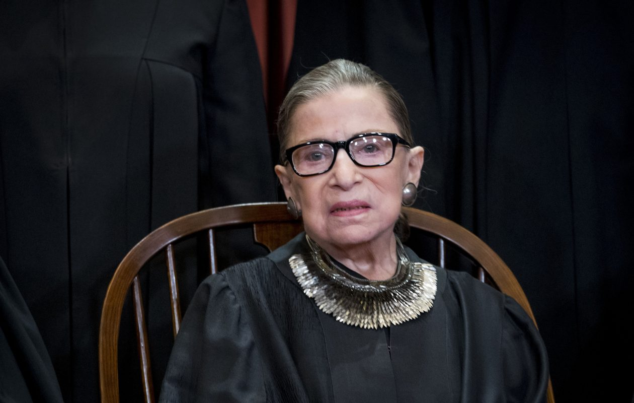 Associate Justice of the U.S. Supreme Court Ruth Bader Ginsburg during a group portrait in Washington, Nov. 30, 2018. (Doug Mills/The New York Times)