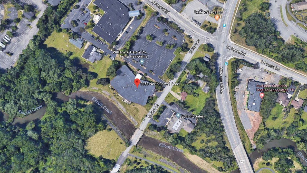 The Schwartz Group, a health-care marketing and research firm, is moving to this office building at 2350 North Forest Road in Amherst. (Google Images)