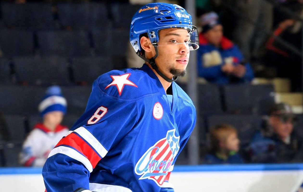 Devante Stephens is mainly playing with Cincinnati but has ad a few games with the Amerks (Credit: Micheline Veluvolu/Rochester Americans)