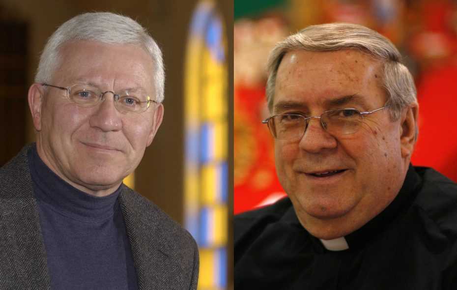 Monsignor Frederick Leising, left, and Rev. Roy Herberger were returned to service Friday after the Buffalo Diocese cleared them of abuse allegations. (News file photos)