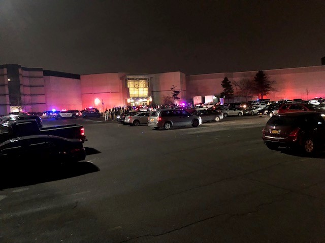 There was a large police presence at the Walden Galleria Wednesday night. (Brian Connolly/Buffalo News)