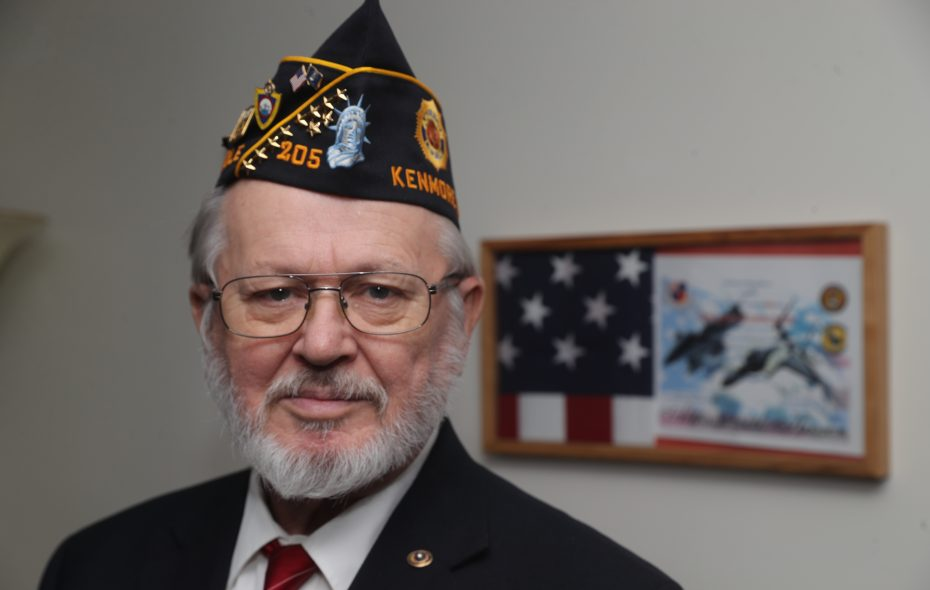 Vietnam War veteran Wayne Baumgartner, who served in the Air Force, is now vice commander of the American Legion's Milton J. Brounshidle Post No. 205 in the Town of Tonawanda. (John Hickey/Buffalo News)