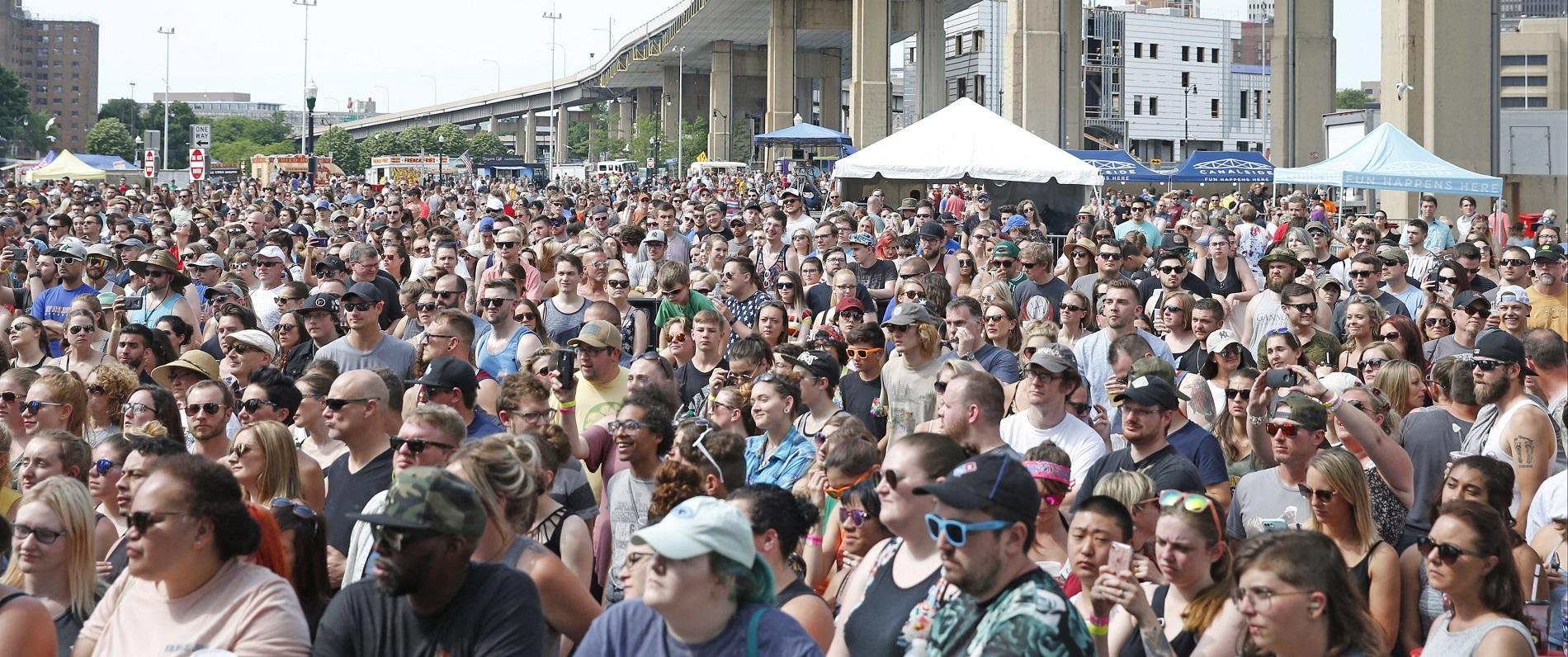 Canalside was again a popular spot to see a concert in 2018. (Robert Kirkham/Buffalo News)