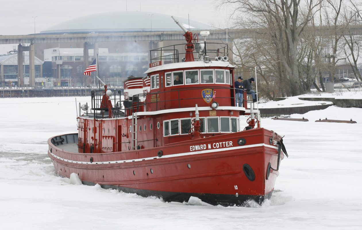 The Edward M. Cotter breaks up ice at the Erie Basin Marina  on Wednesday, February  16, 2011. (Harry Scull Jr./News file photo)
