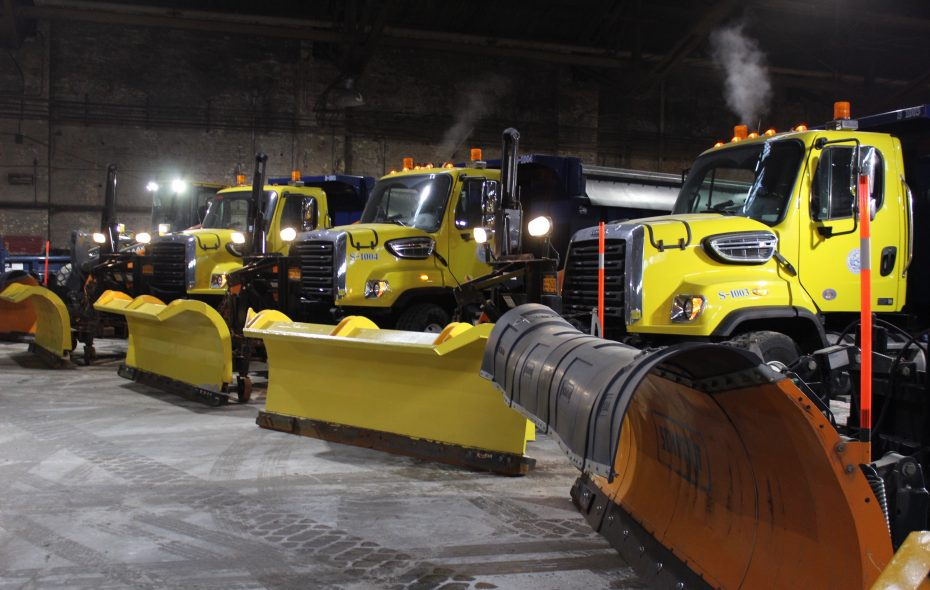 Buffalo's snow fighting fleet is ready to go, as are plows across Western New York. (Photo courtesy of the City of Buffalo)
