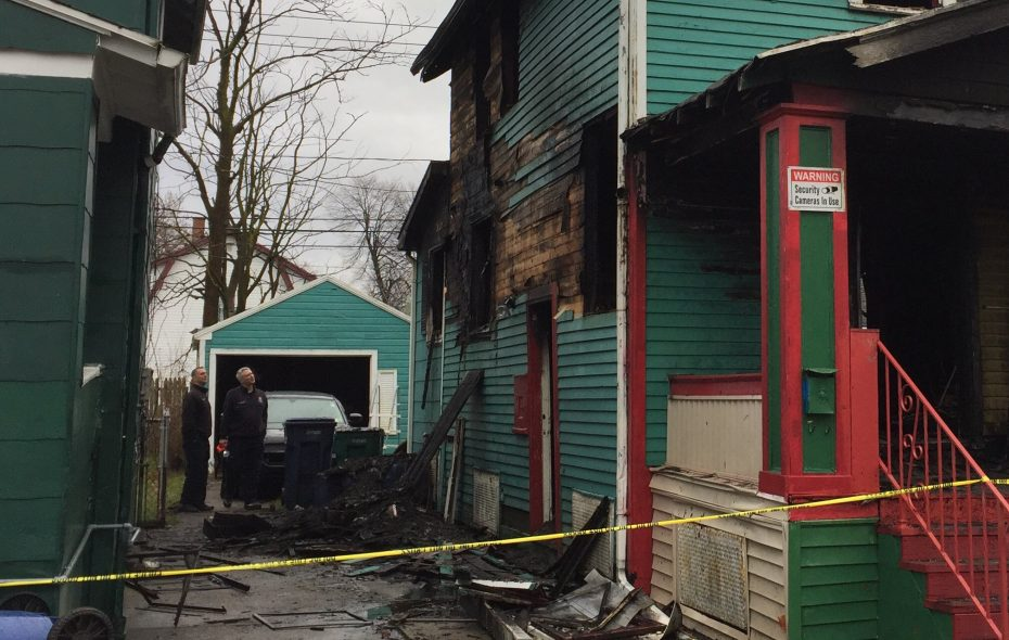 Funds are being raised for the families of victims of an overnight fire on Shirley Avenue that claimed the lives of a 26-year-old woman, 4-year-old girl and 8-year-old boy. (Aaron Besecker/Buffalo News)