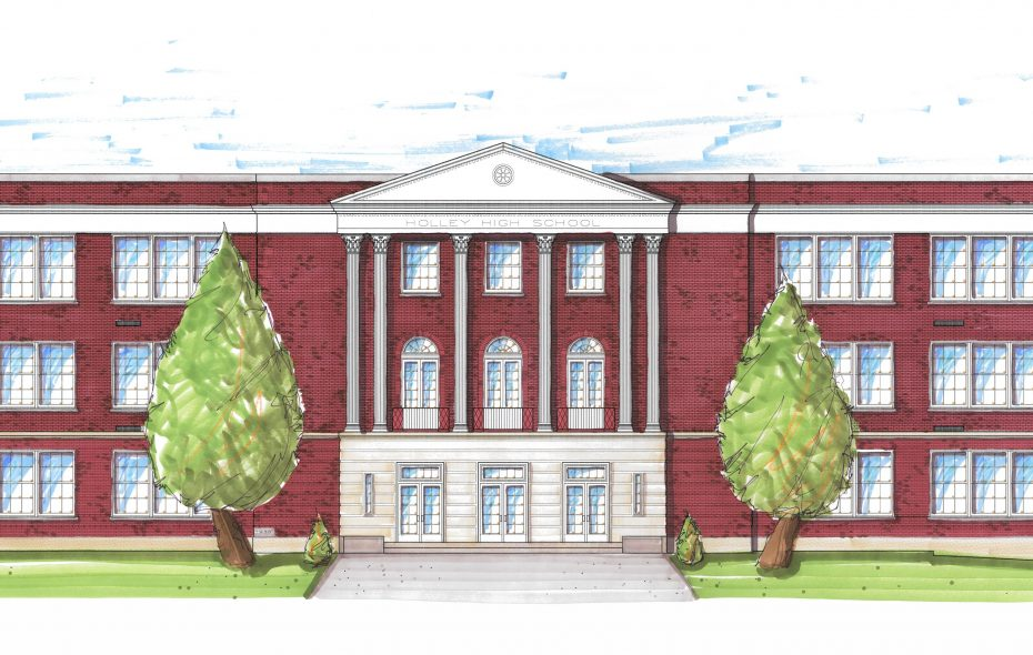 A rendering of what the completed Holley Gardens will look like. (Provided image)