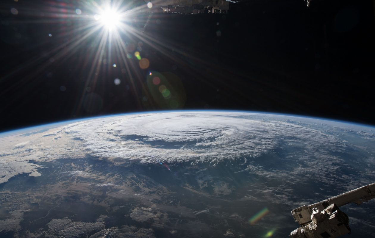 Hurricane Florence as shown from the International Space Station in September near the North Carolina coastline. (NASA image)