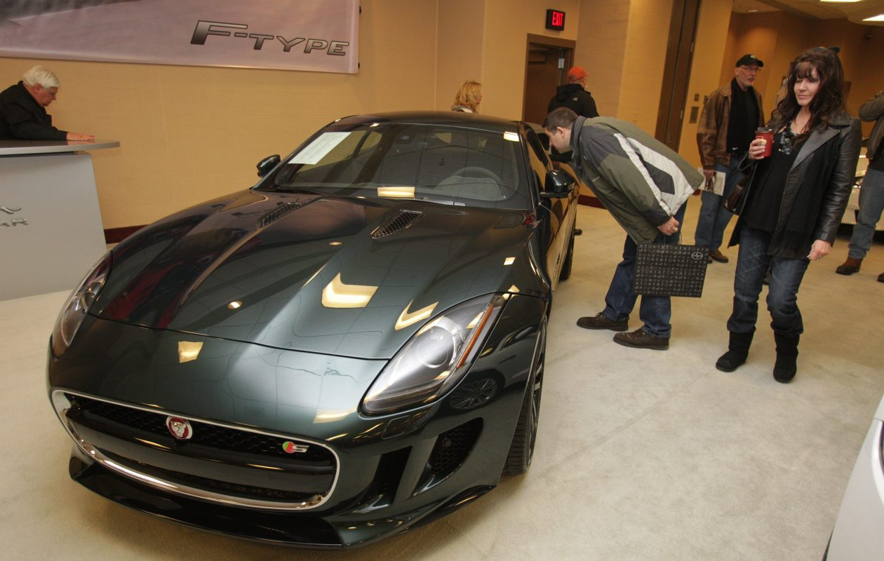 A Jaguar F-type drew admirers at the 2015 Buffalo Auto Show. (News file photo)
