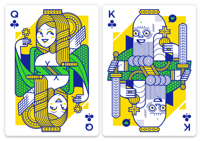 Lunatica playing cards designed by Giovanni Meroni.