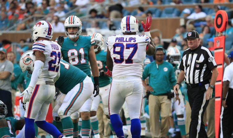 Bills defensive tackle Jordan Phillips against his former team. (Harry Scull Jr./Buffalo News)