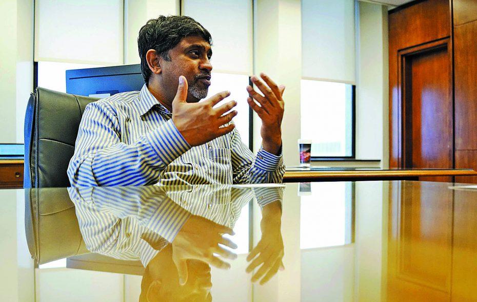 Ram Ramanujam, plant director at the General Motors Town of Tonawanda engine plant. (Derek Gee/Buffalo News)