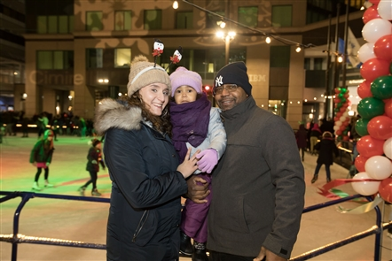 Smiles at Christmas tree lighting at Rotary Rink
