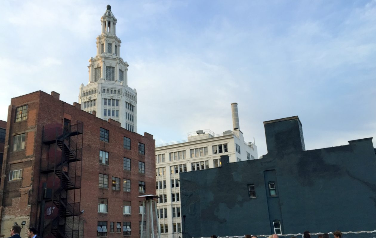 The Tappo rooftop has a view of downtown that includes the Electric Tower. (Andrew Galarneau/Buffalo News)