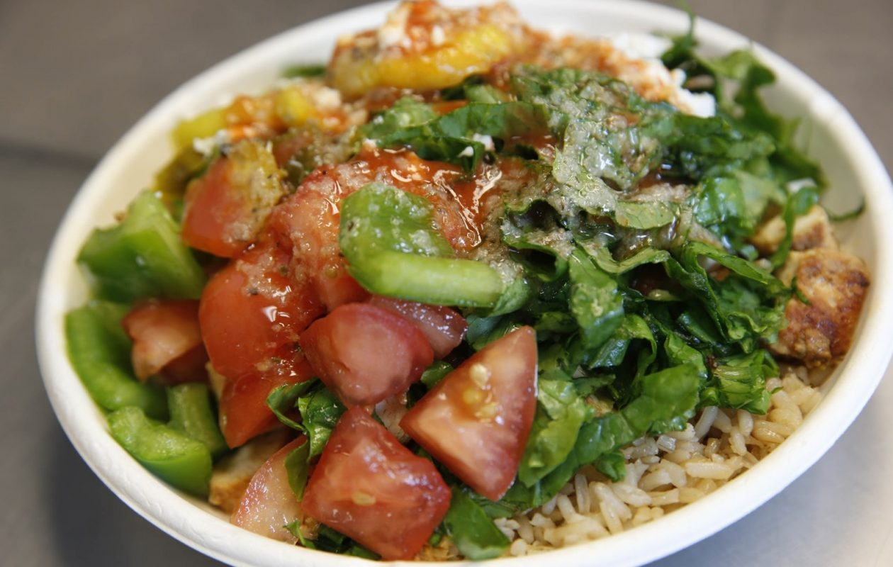 Rachel's Mediterranean will open a sixth location on Sheridan Drive in Amherst. Pictured is their chicken rice bowl. (Sharon Cantillon/News file photo)