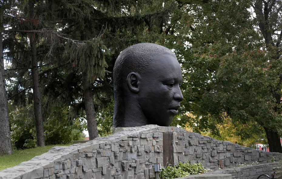 Visit Martin Luther King Jr. Park to walk among the gardens or enjoy public art, such as John Wilson's sculpture. (Mark Mulville/News file photo)