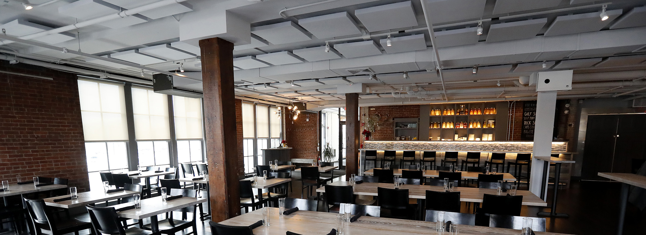 Dobutsu, which opened in a former industrial space on Seneca Street, has undergone a sonic redesign, about which chef-owner James Roberts says the difference is 'night and day.' (Mark Mulville/Buffalo News)