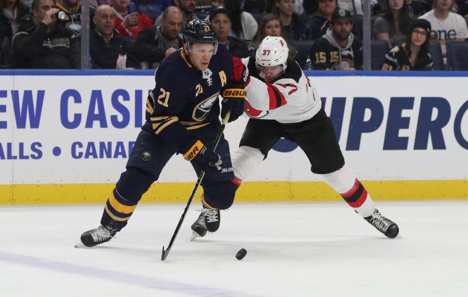 Kyle Okposo could get some more work on the power play. (James P. McCoy/News file photo)