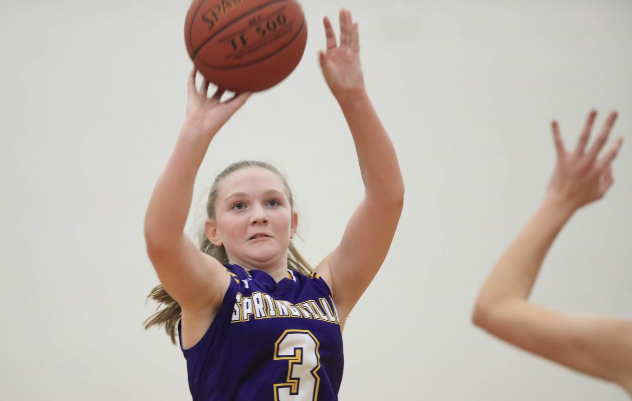 Mackenzie Owens and the Springville Griffins shot their way into the small schools poll after being unranked in the previous poll. (Harry Scull Jr./ Buffalo News)