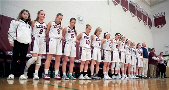 Eden 42, Springville 32. Eden dedicated its girls basketball games Monday to the memory of Amy Banks, an Eden Central Schools counselor who unexpectedly died Dec. 27 at age 47.