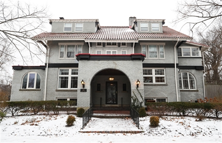 Members of the Junior League of Buffalo and community volunteers will serve as docents offering tours of the Palmer Centennial House, 288 Lincoln Parkway, for the 20th Decorators's Show House. (Sharon Cantillon/Buffalo News)