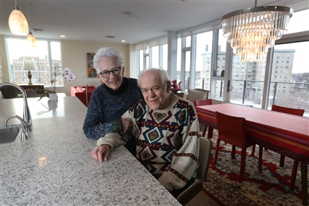 Alan and Judy Duchan moved from their home of more than 40 years in  Buffalo's Parkside neighborhood to a penthouse apartment in Canterbury Woods Gates Circle.
