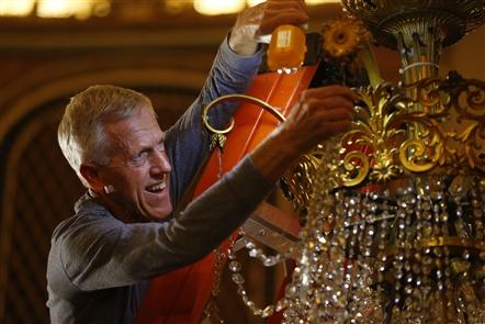 Cleaning restores sparkle to Riviera chandelier