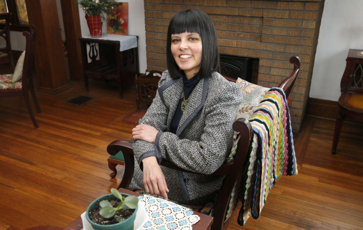 Elisabeth Rossow in her South Buffalo home.   (Robert Kirkham/Buffalo News)