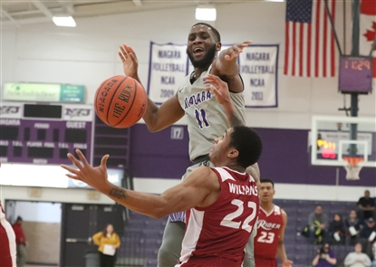 Niagara University men's basketball fell to Rider University on Sunday, Jan. 13, 2019.