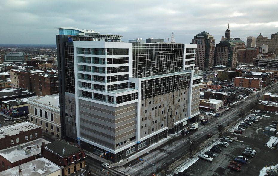 The 500 Pearl development, pictured on Thursday, Jan. 10, 2019. (John Hickey/Buffalo News)
