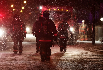 Four firefighters taken to ECMC after East Side fire