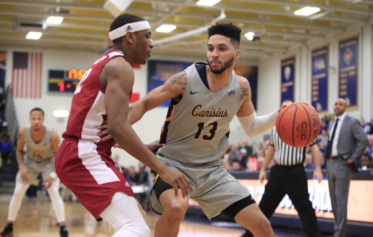 Canisius announced Friday that Isaiah Reese has been suspended indefinitely from the men's basketball team.(Harry Scull Jr./News file photo)