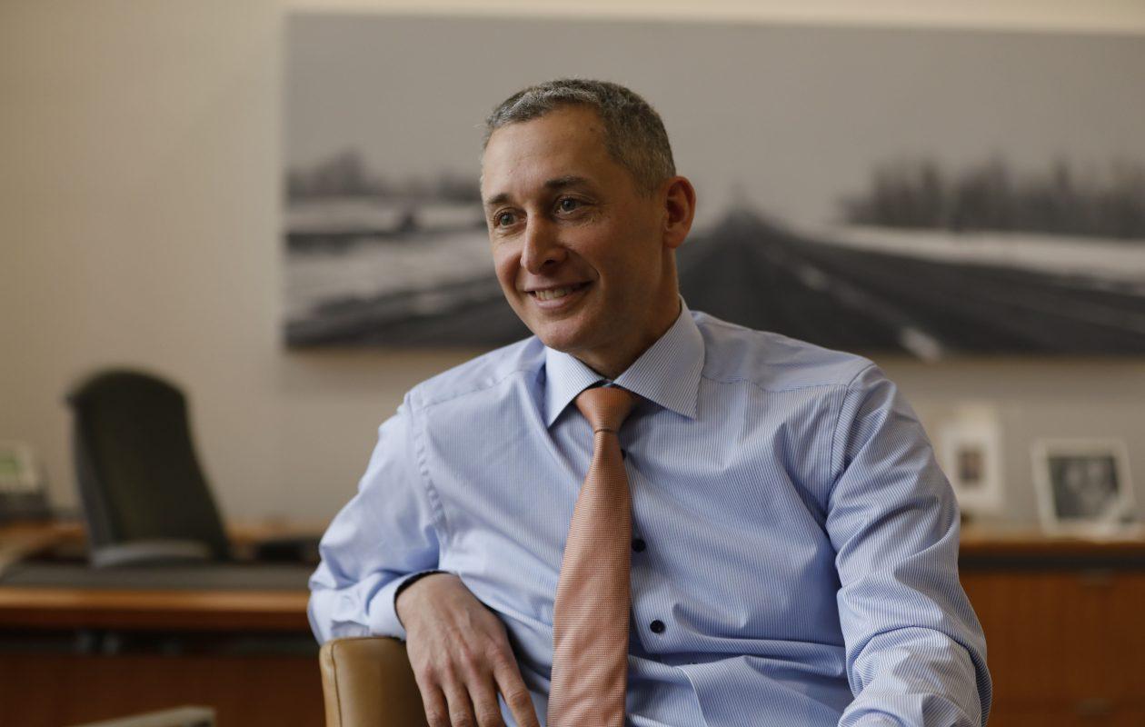 René F. Jones, chairman and CEO of M&T Bank, in his 19th-floor office. (Derek Gee/Buffalo News)