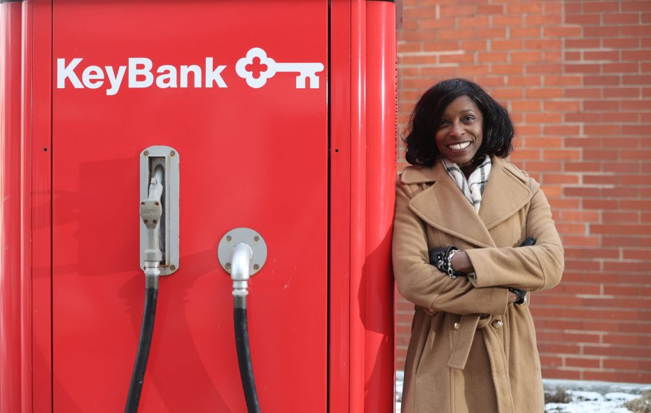 Kawanza Humphrey is regional corporate responsibility officer for KeyBank. (Sharon Cantillon/Buffalo News)