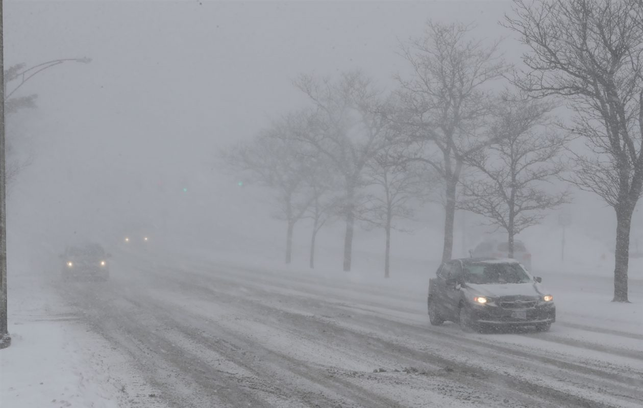 The storm has forced the Western New York Farm Show to delay its start. (John Hickey/Buffalo News)